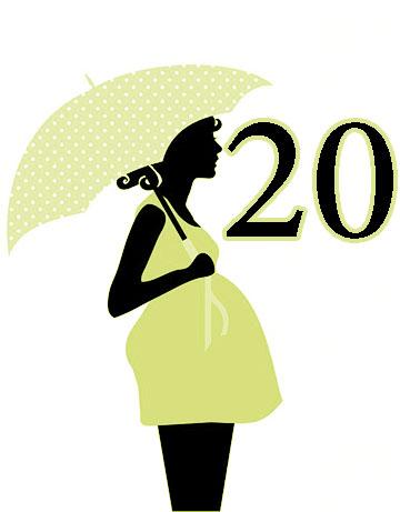 الاسبوع العشرين من الحمل 20 نمو الجنين واعراض ونصائح للحمل