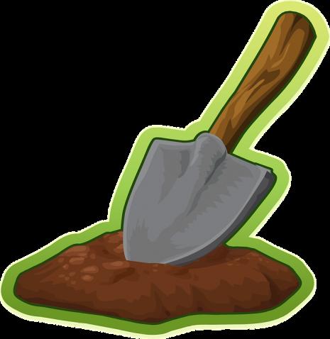 رؤية التراب و أكل و كنس الرمل و حفر أرض في المنام