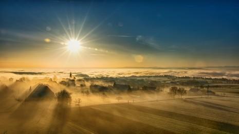رؤية شروق أو غروب الشمس في المنام